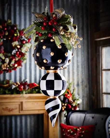 MacKenzie-ChildsDeck the Halls Triple Christmas Ornament