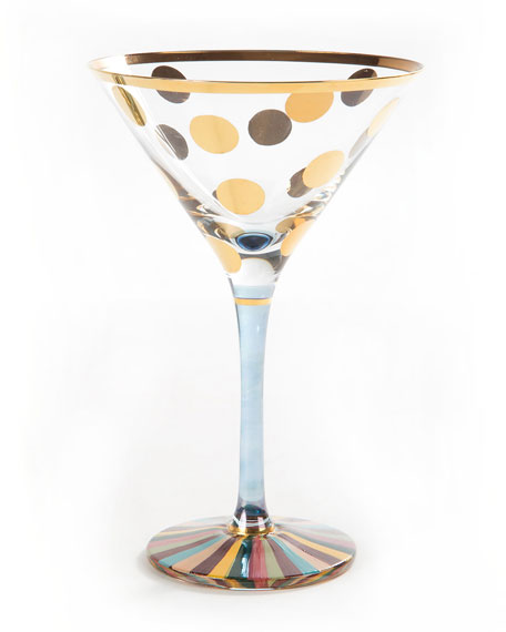 MacKenzie-Childs Foxtrot Martini Glass and Matching Items