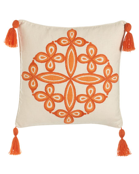 Trina Turk Caribbean Orange Desert Medallion Pillow