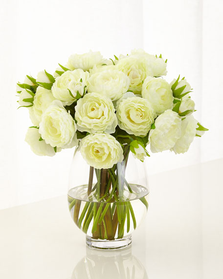 Pretty Ranunculus Faux-Floral Arrangement