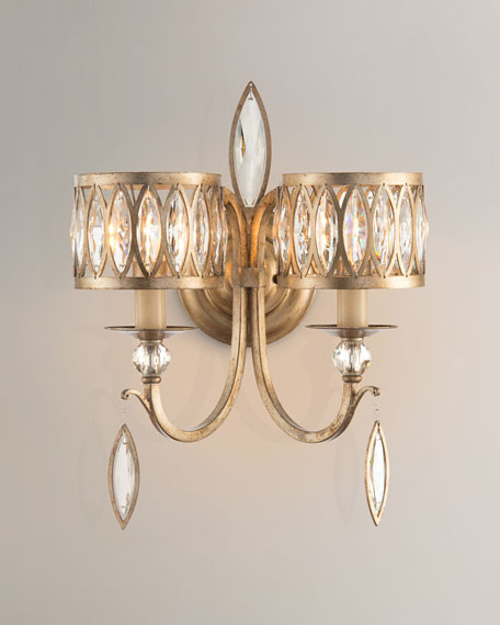 Marquis Crystal 2-Light Wall Sconce