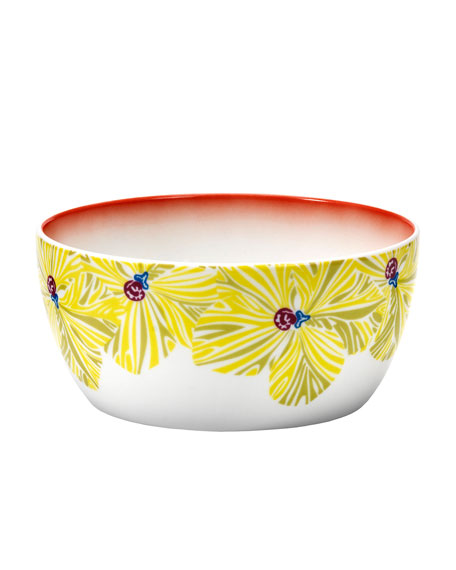 Flowers Large Fruit Bowl