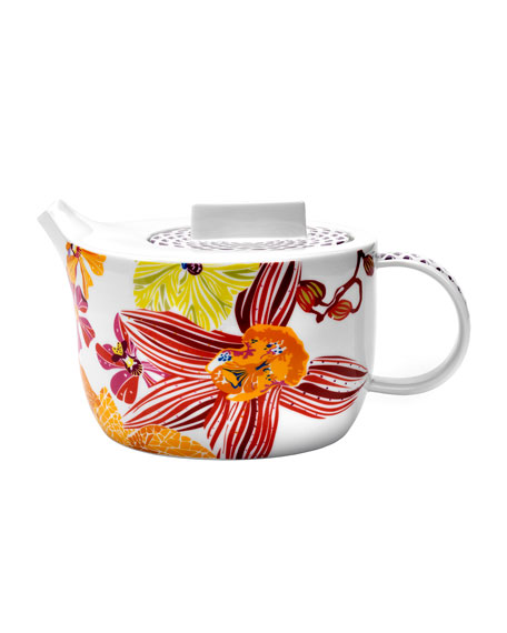 Flowers Tea/Coffee Pot