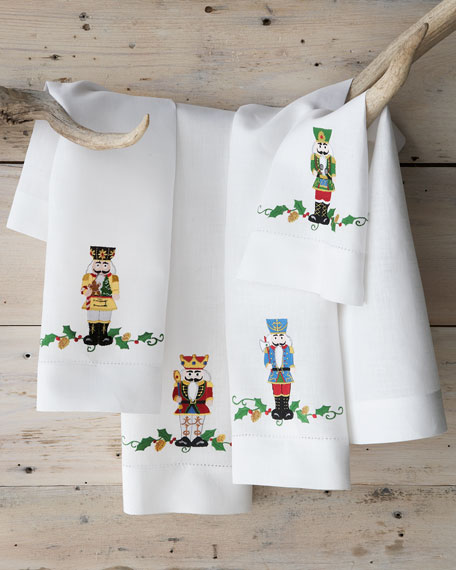 nutcracker holiday guest towels