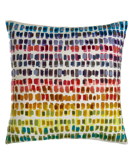 Pine Cone Hill Paint Chip Embroidered Pillow, 20