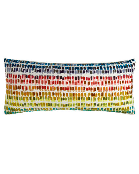 "Paint Chip Embroidered Pillow, 15"" x 35"""
