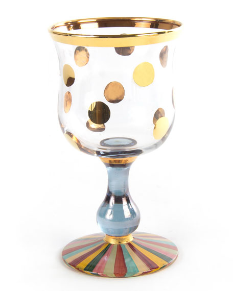 MacKenzie-Childs Foxtrot Water Glass