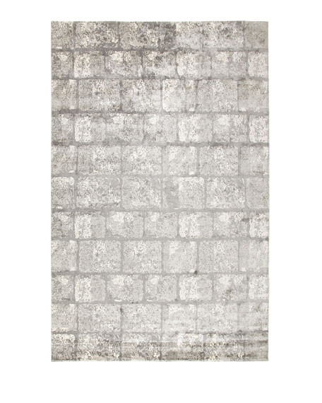 Silver Gem Rug, 6' x 9'