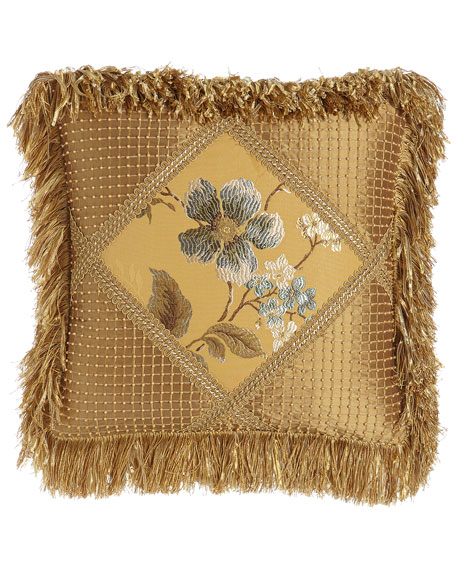 Montiverde Beaded Silk/Floral Pillow, 16