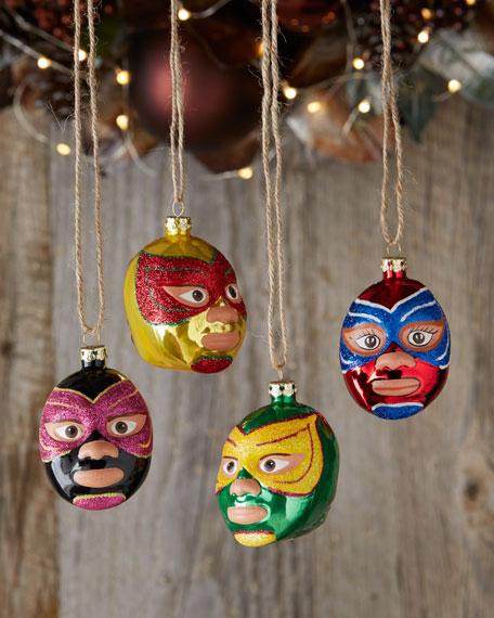cody foster  u0026 co quatro luchadores christmas ornaments  4