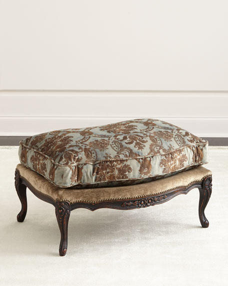 Old Hickory Tannery Bedelia Bergere Ottoman