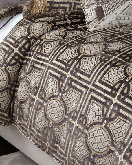 Dian Austin Couture Home Queen Argent Geometric Duvet