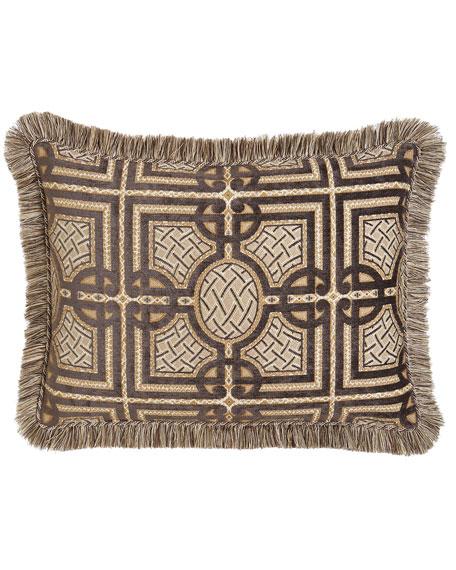 Dian Austin Couture Home King Argent Geometric Sham