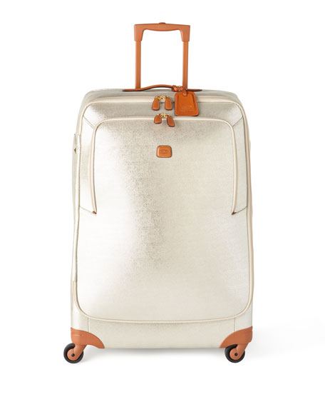 "GlamLife Silver 32"" Spinner Luggage"