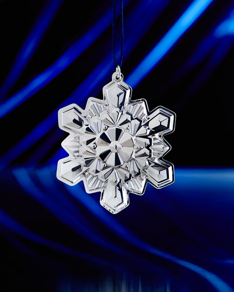 Gorham2016 Sterling Silver Snowflake Christmas Ornament