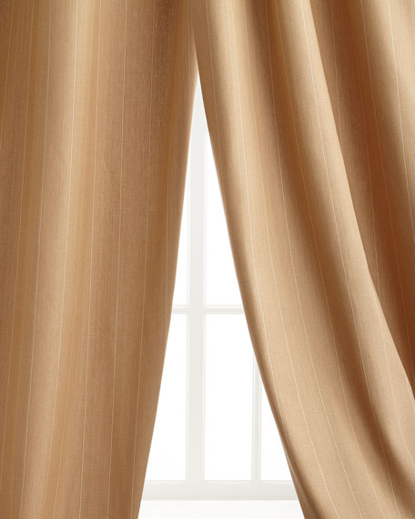 "Two 50""W x 108""L Arielle Copley Stripe Curtains"