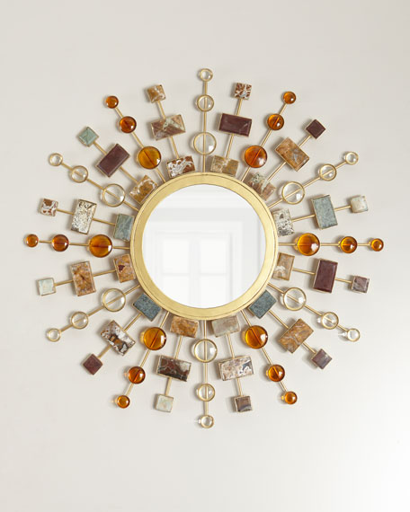 Janice Minor Gemstone Sunburst Mirror