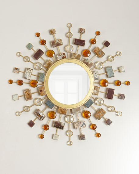 Gemstone Sunburst Mirror