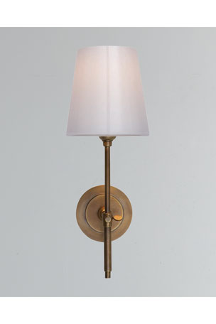 Thomas O'Brien Bryant Sconce with White Glass Shade