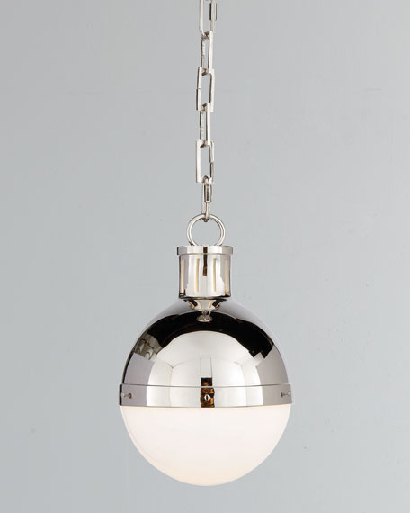 Visual Comfort Hicks 1-Light Small Polished-Nickel Pendant