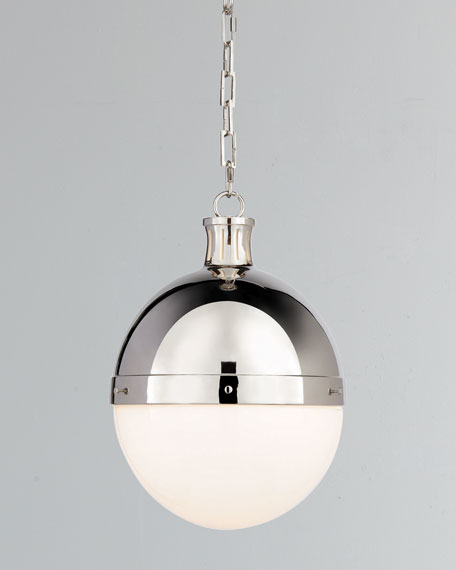 Hicks 2-Light Large Polished-Nickel Pendant