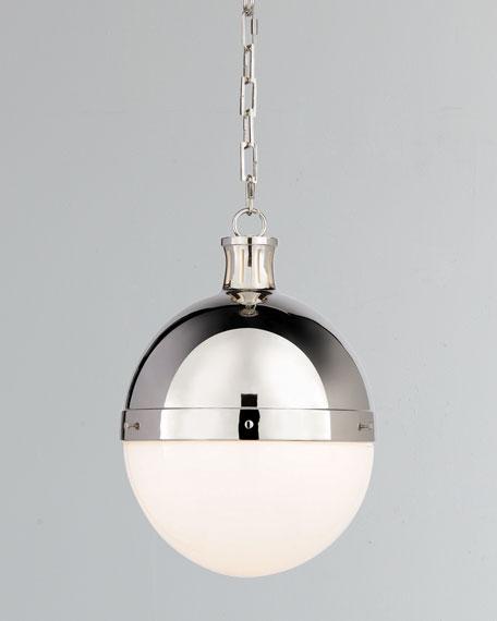 Hicks 2-Light Large Polished-Nickel Pendant