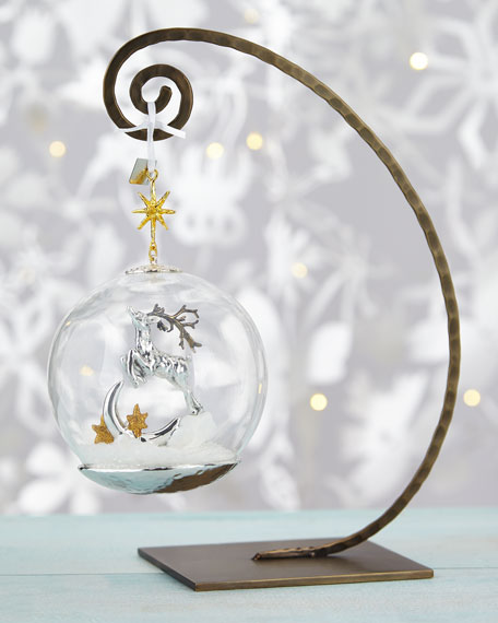 Michael Aram Reindeer Globe Christmas Ornament