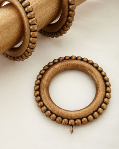 antique drapery rod renaissance gold beaded curtain rings