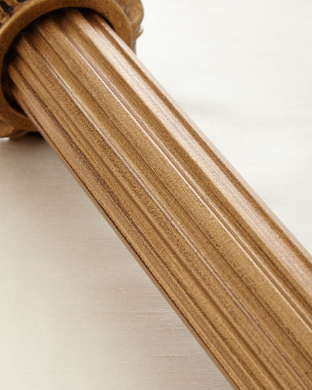 6'L Renaissance Gold Fluted Curtain Rod
