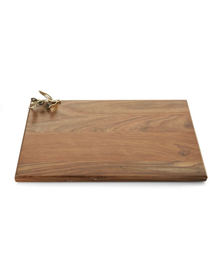 Michael Aram Olive Branch Gold Wood Serving Board
