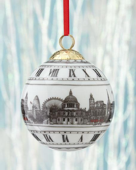 Halcyon Days Big Ben London Ball Christmas Ornament