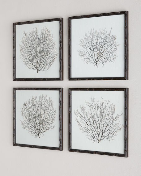 Sea Fans, 4-Piece Wall Art Set