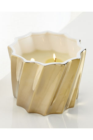 AERIN Golden Fluted Candle