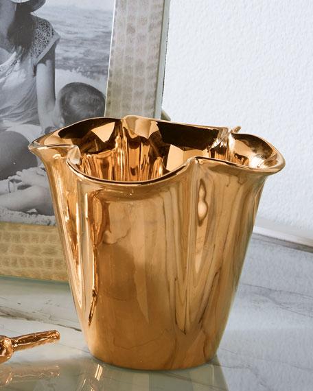 Gilded Clover Small Vase