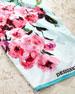Falling Rose Fuchsia Beach Towel