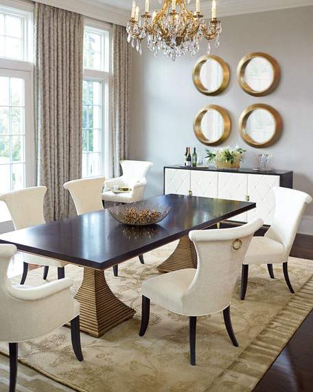 Bernhardt Paltrow Double Pedestal Table