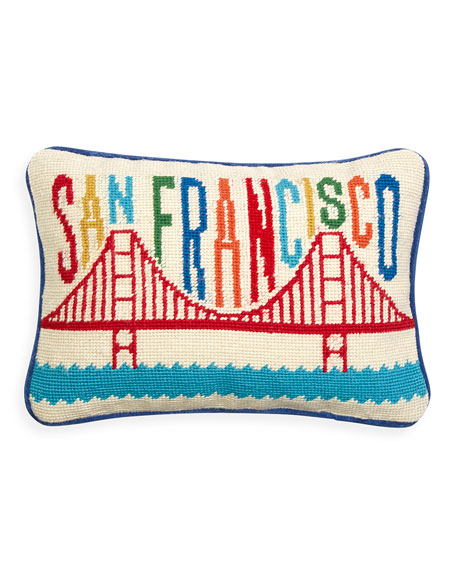 Jonathan Adler San Francisco Needlepoint Pillow