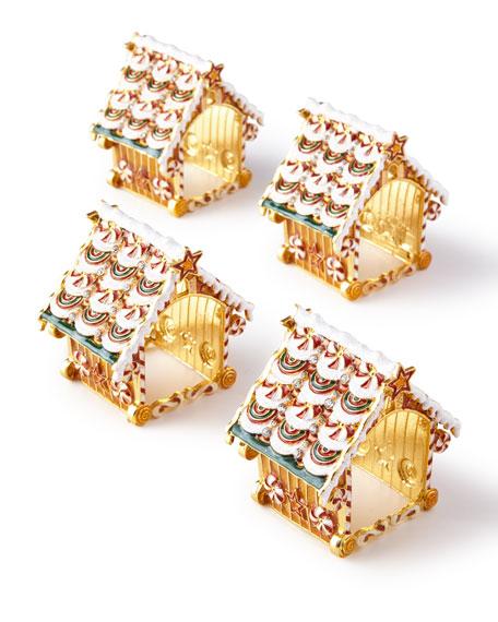 Kim Seybert Gingerbread Placemat, White Pine Sprig Napkin,