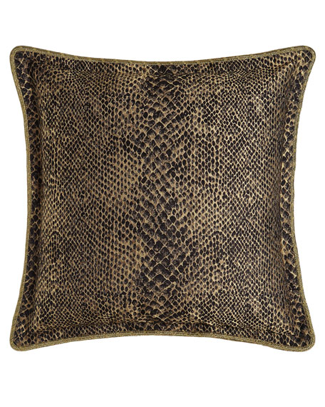 European Andromeda Sham with Snakeskin Pattern