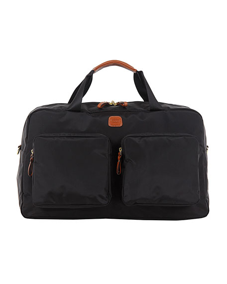 Bric's Black X-Bag Boarding Duffel with Pockets