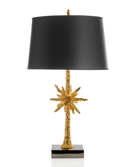 Starburst Gold-Tone Table Lamp