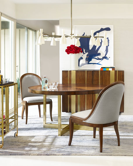Cynthia Rowley for Hooker Furniture Horizon Line Round Dining Table