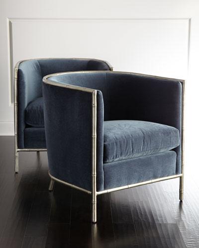 Luella Blue Velvet Chair
