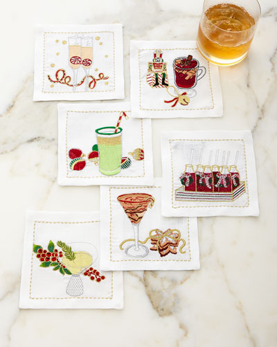 Holiday Cheers Cocktail Napkins, 6-Piece Set