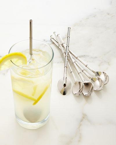 Chinoiserie Spoon Straws, Set of 6