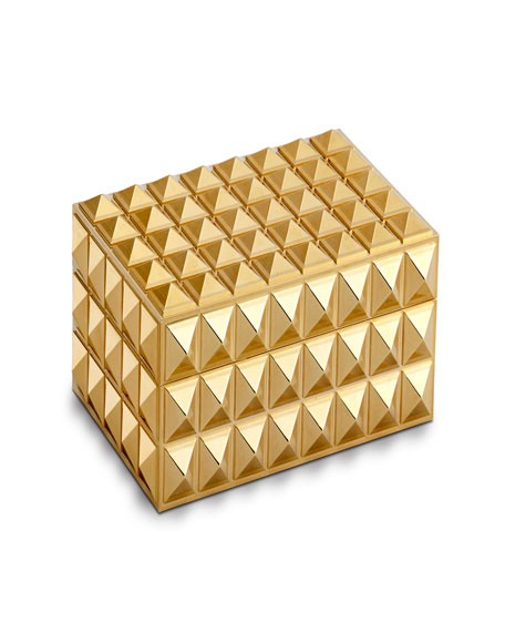 L'Objet Pyramide Gold Small Rectangular Box