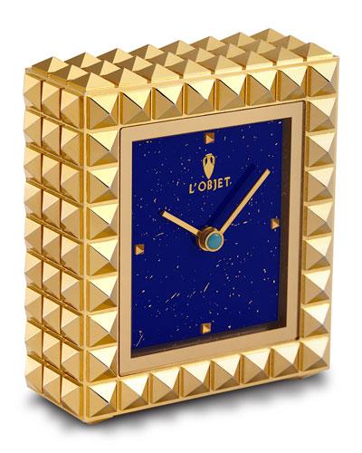 Pyramide Gold Clock