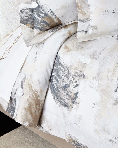 Queen Paint Splatter Duvet Cover