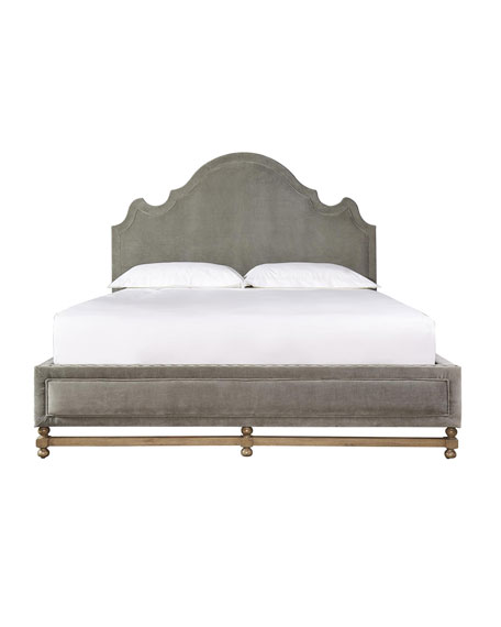 Aimee Velvet California King Bed