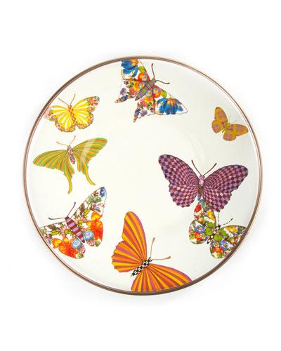 White Butterfly Garden Saucer